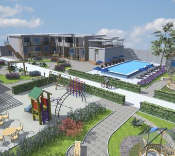 Эскизный проект гостиничного комплекса с. Новотрадном